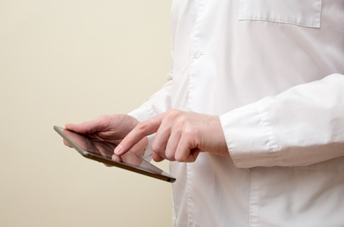 The health care sector is leading the way in mobile app adoption.