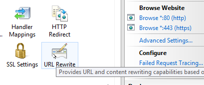 Optional: URL Rewrite configuration on each server